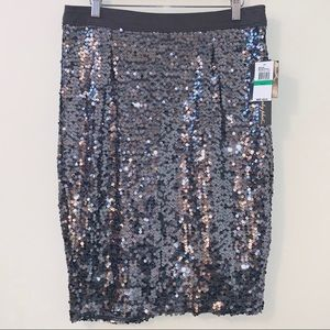 NWT sequin Baby Phat skirt size L *minor defect*